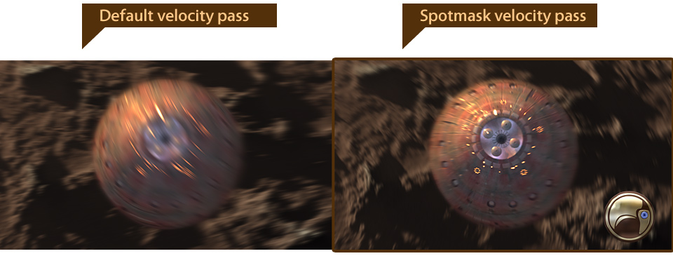 Spotmask velocity pass